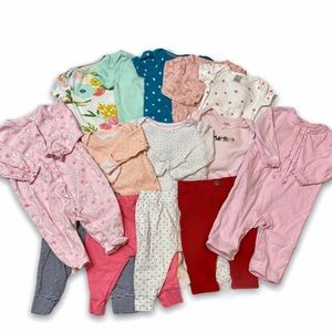 Baby Girl Clothes Lot - 14 piece
